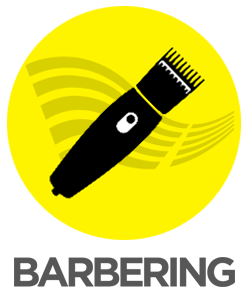 ICON title BARBERING